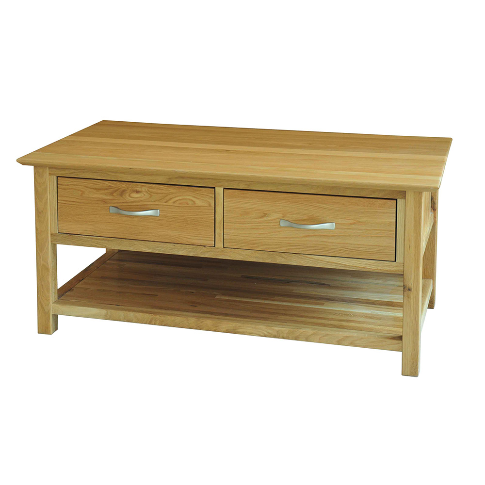 39 Sherwood Oak 39 Coffee Table With Drawers Realwoods
