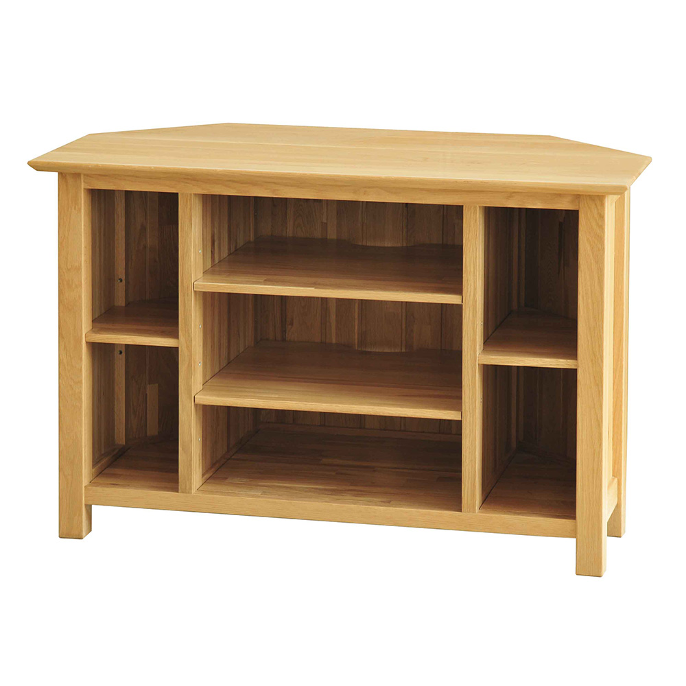 Sherwood Oak Corner Tv Unit Stand Realwoods