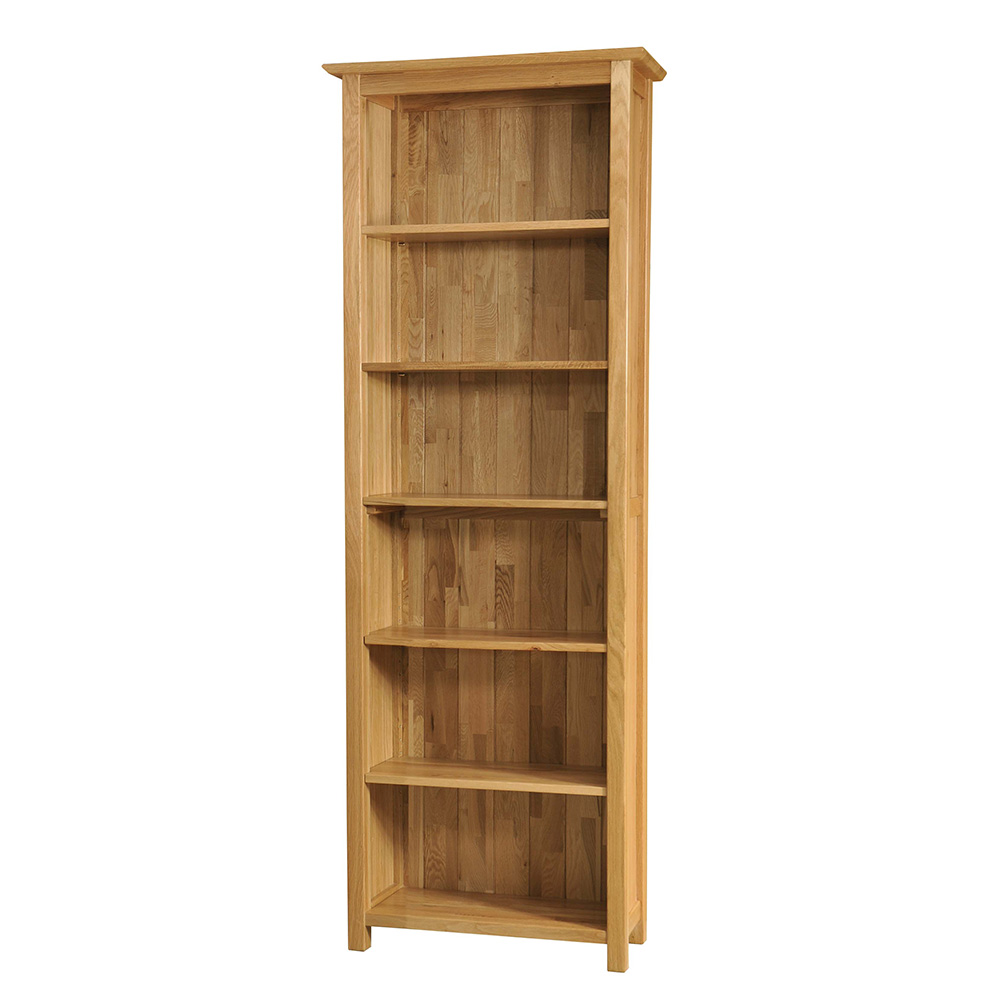 Sherwood Oak Narrow Bookcase Height 3ft 6ft Realwoods