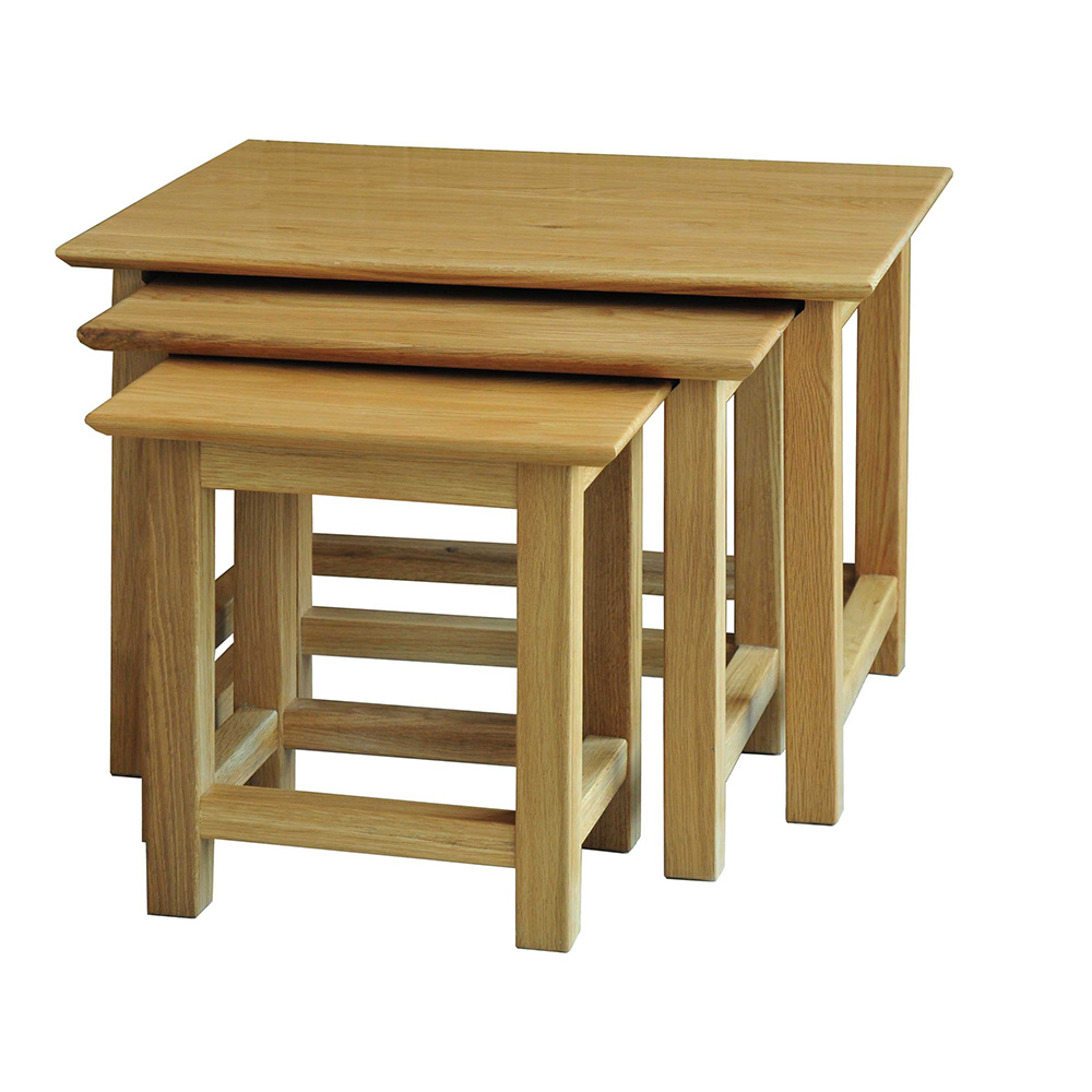 Sherwood Oak Nest Of Tables Three Tiers Included