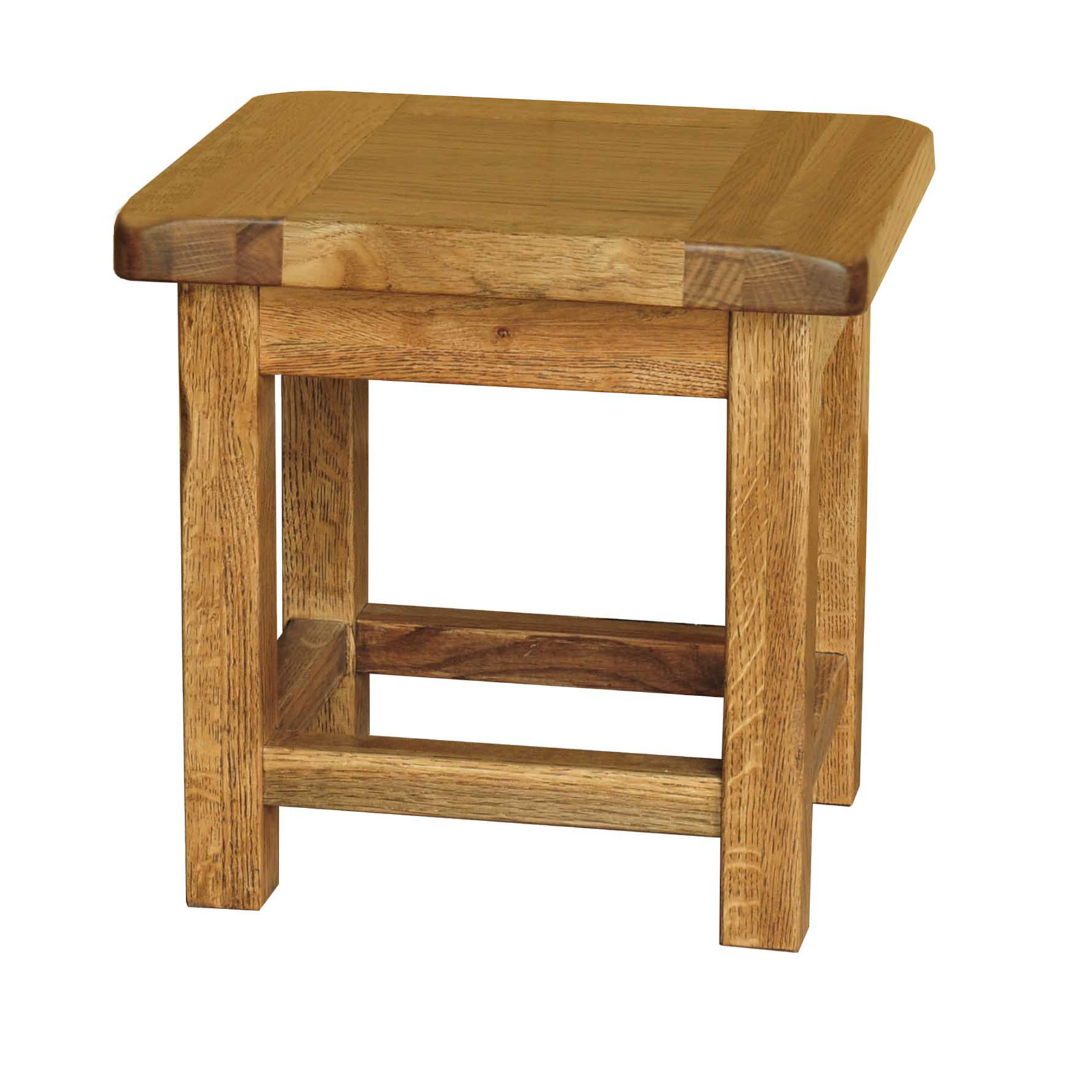 Country oak small side table realwoods