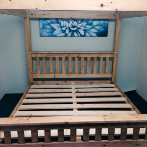 Solid Pine Bed Four Poster
