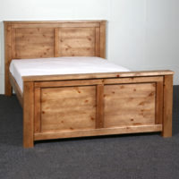 Solid Pine Panel Bed