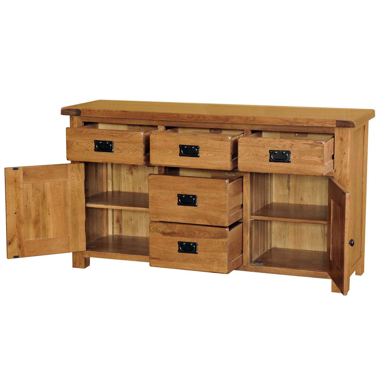 Country Oak 4ft6 Wide Sideboard Dresser Base Realwoods