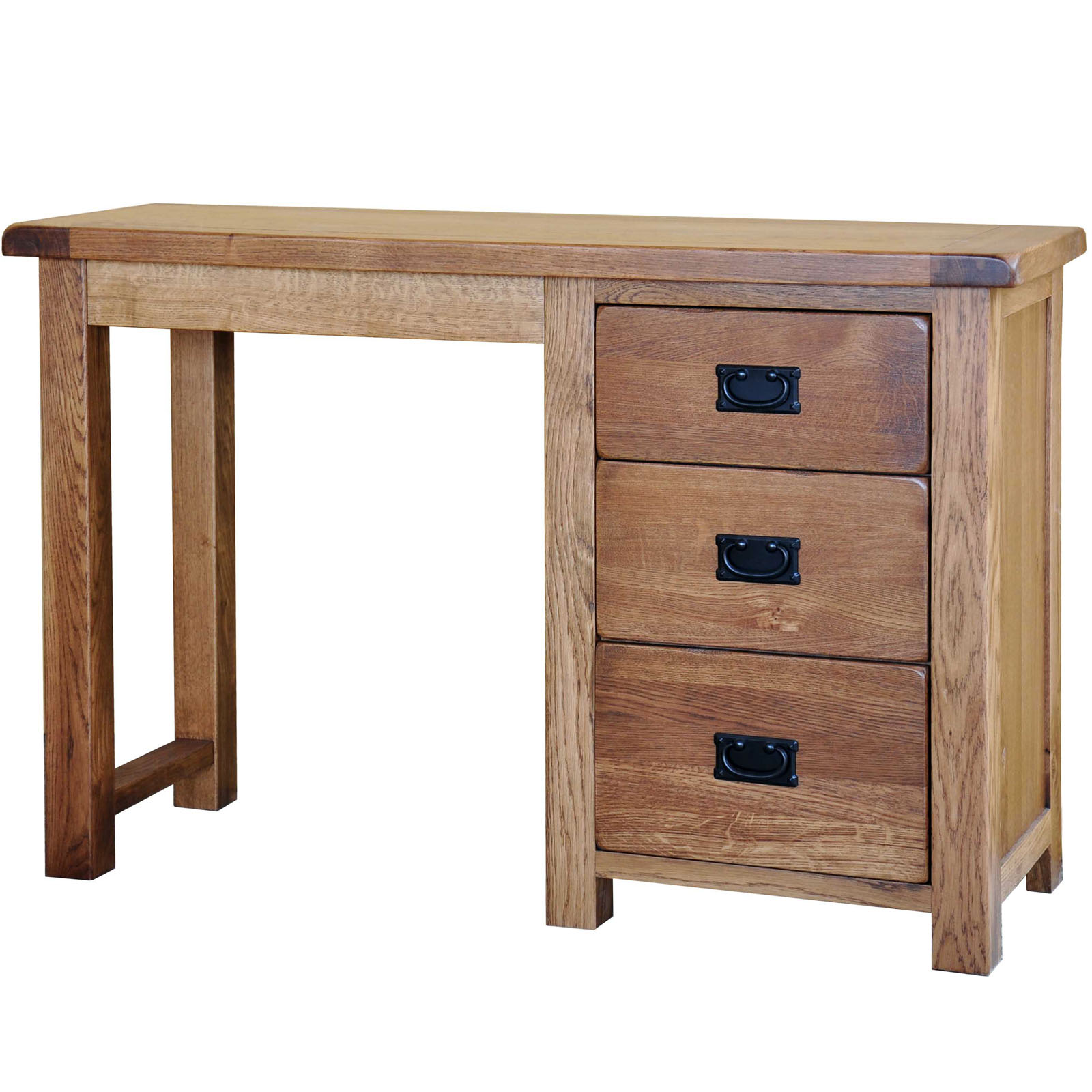 39 country oak 39 dressing table single realwoods for Single dressing table