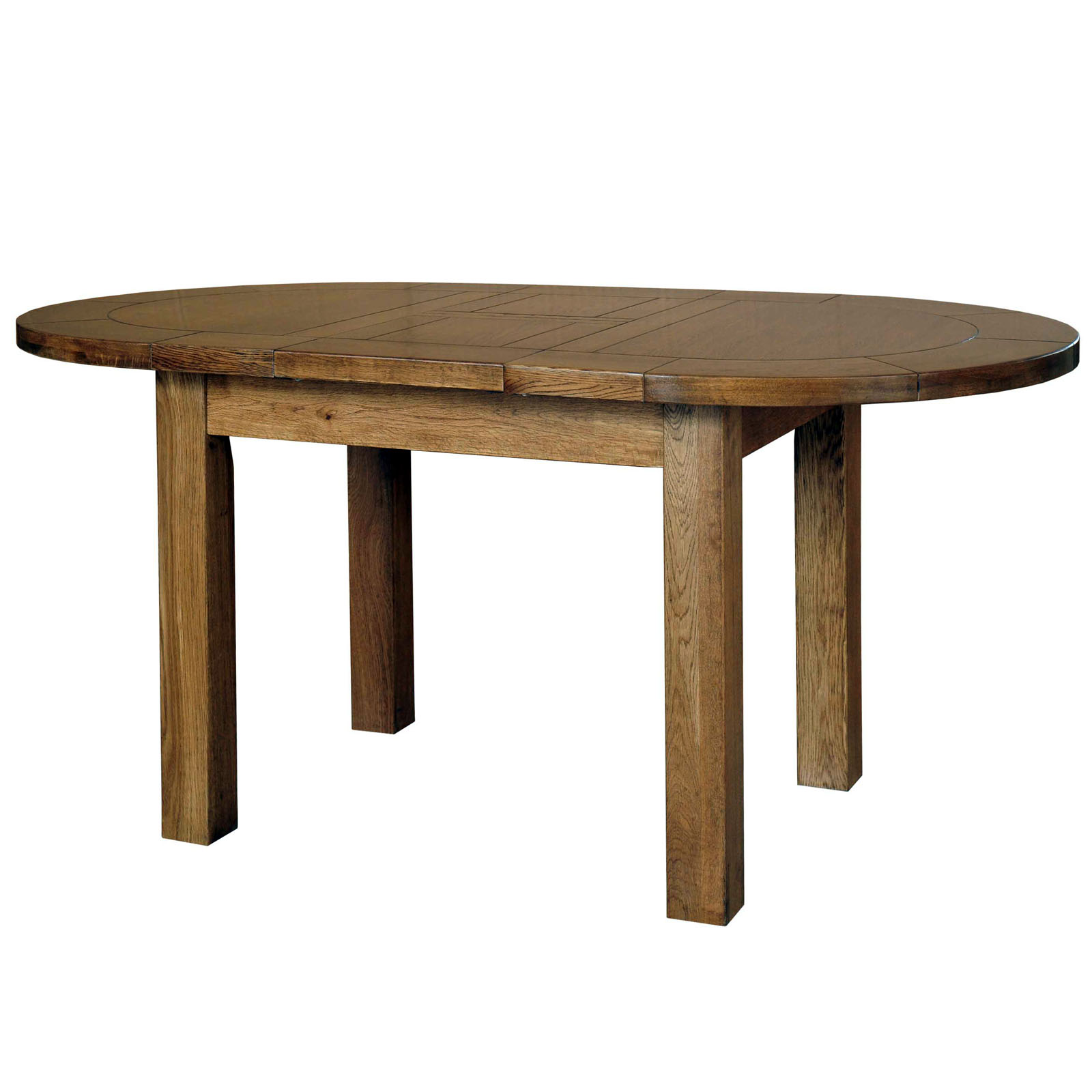 39 Country Oak 39 Small D End Extending Table Realwoods
