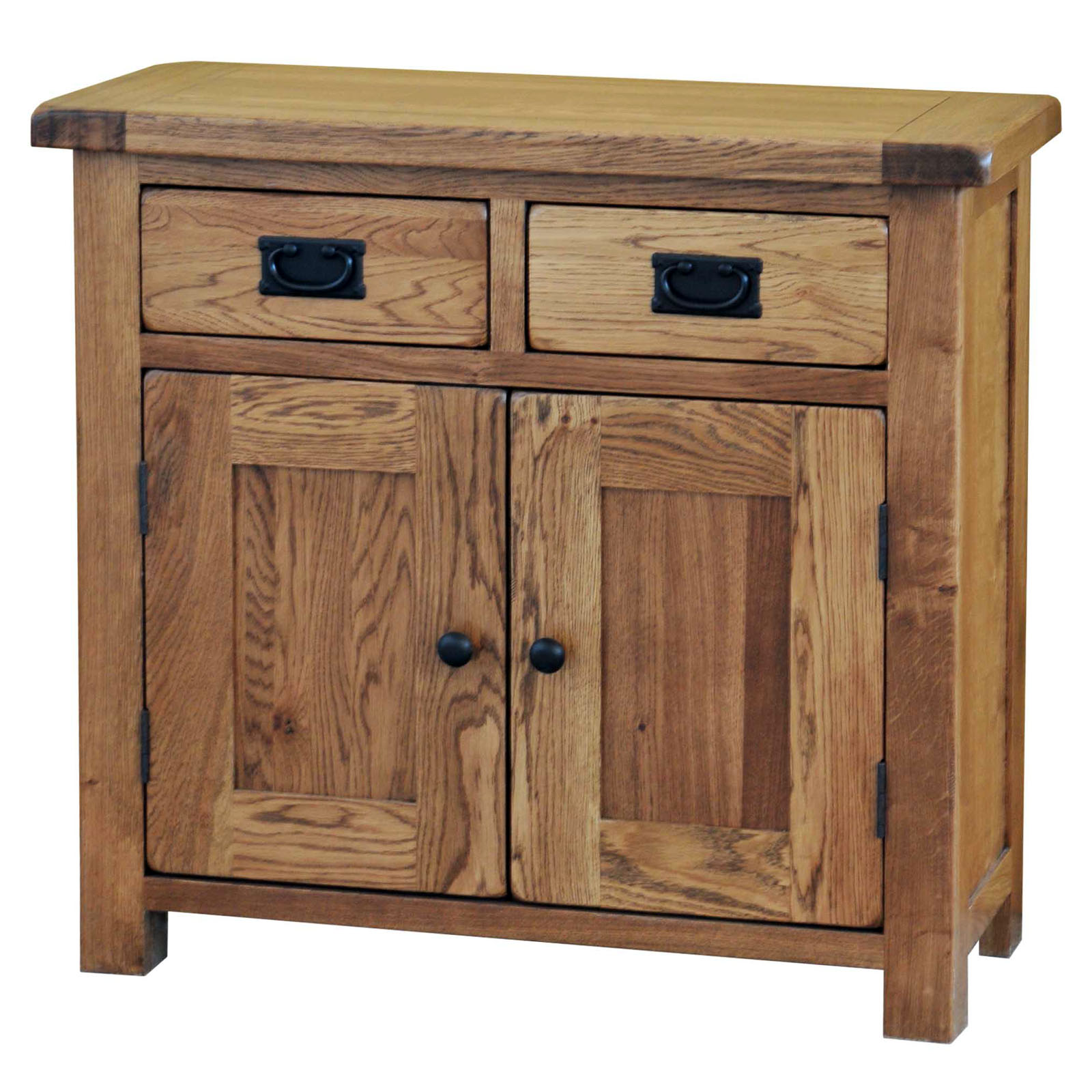 39 country oak 39 2ft6 wide small sideboard realwoods for Sideboard real